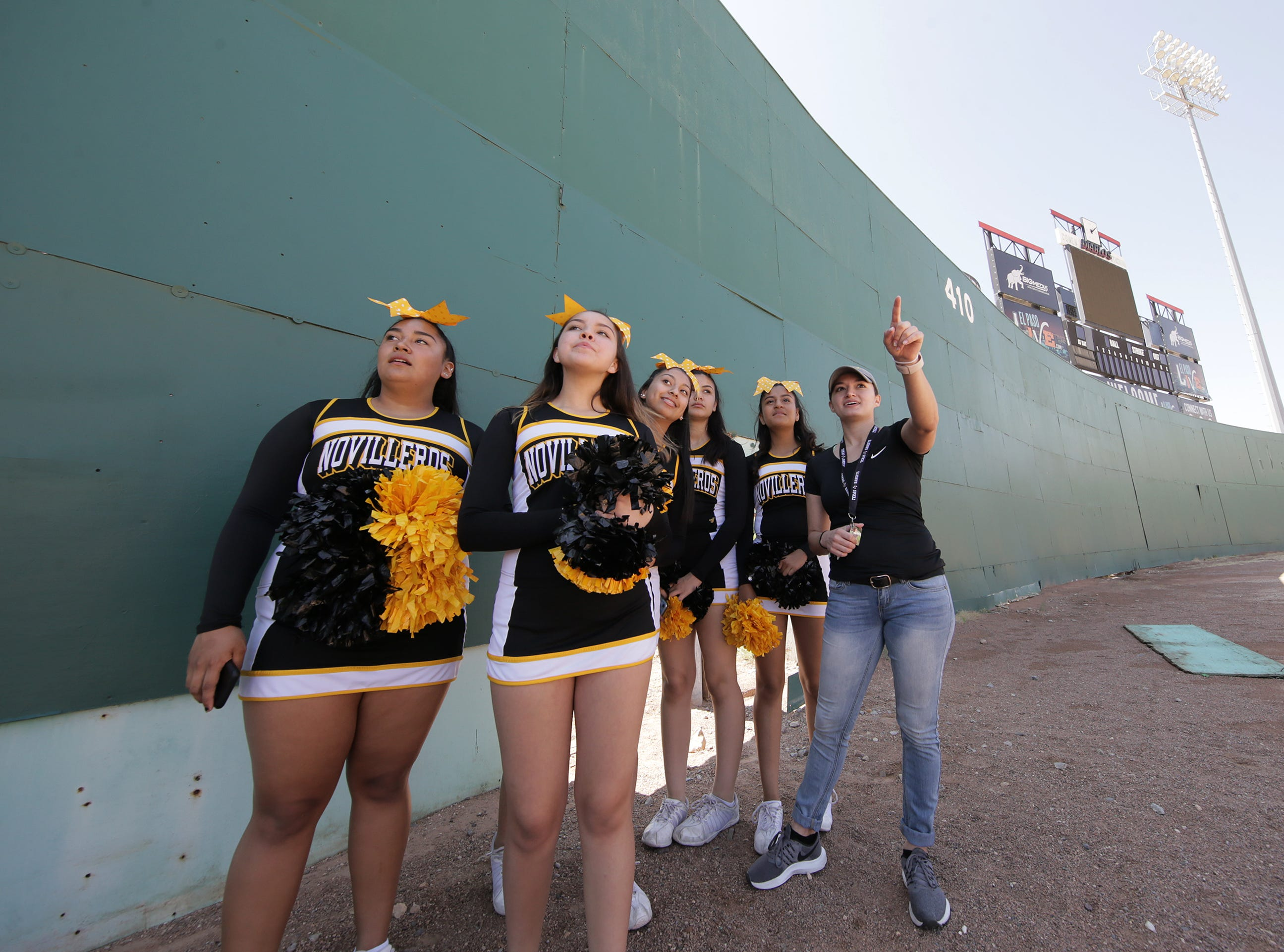 Parkland Middle School cheerleaders get a tour of Cohen Stadium from their coach Bailey Sarver on Saturday, May 11, 2019, during Selfie Day at Cohen Stadium.