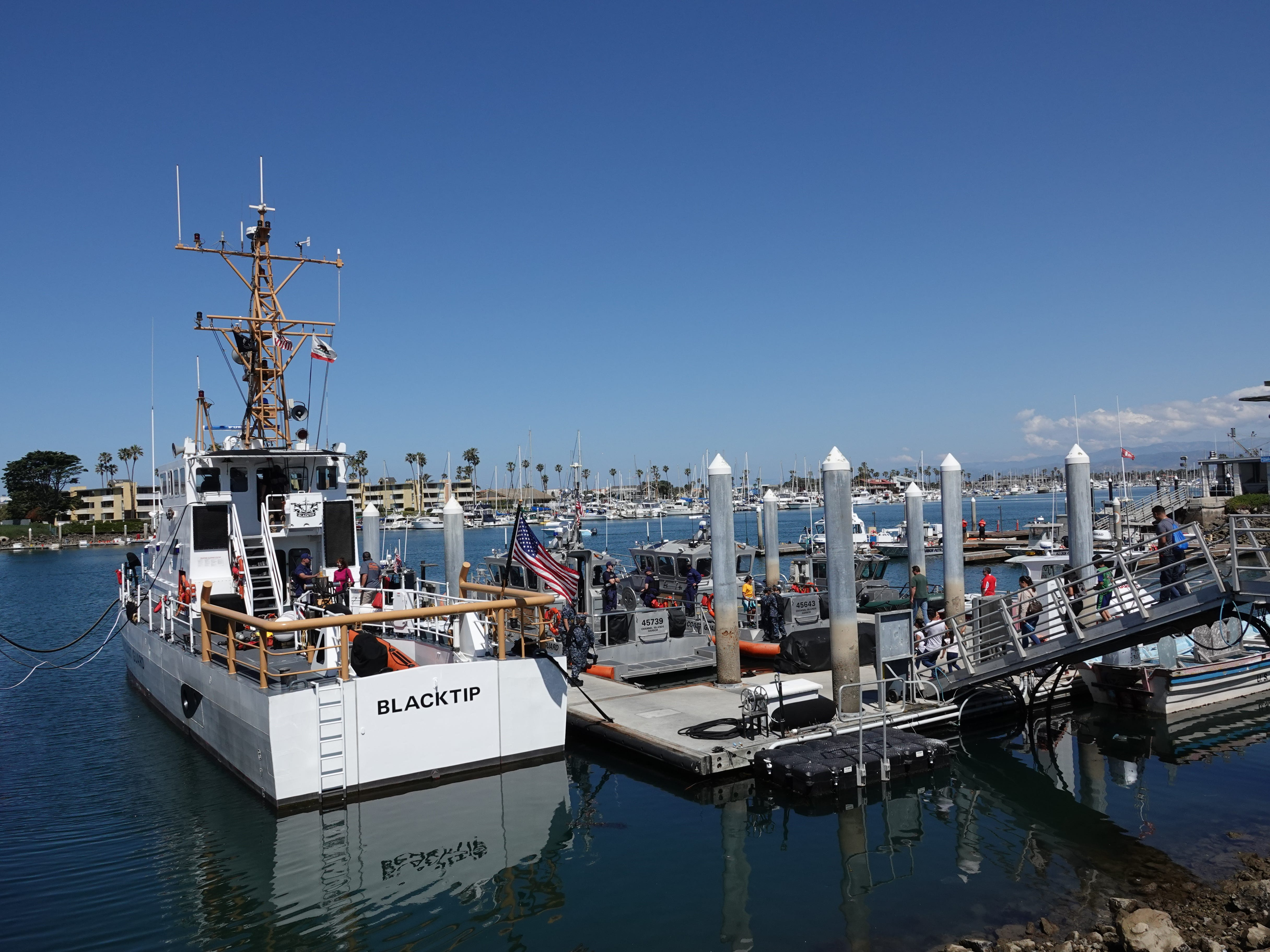 The public got to tour the Blacktip, a Coast Guard cutter, and two emergency response boats during Saturday's Safe Boating Expo at Channel Islands Harbor.