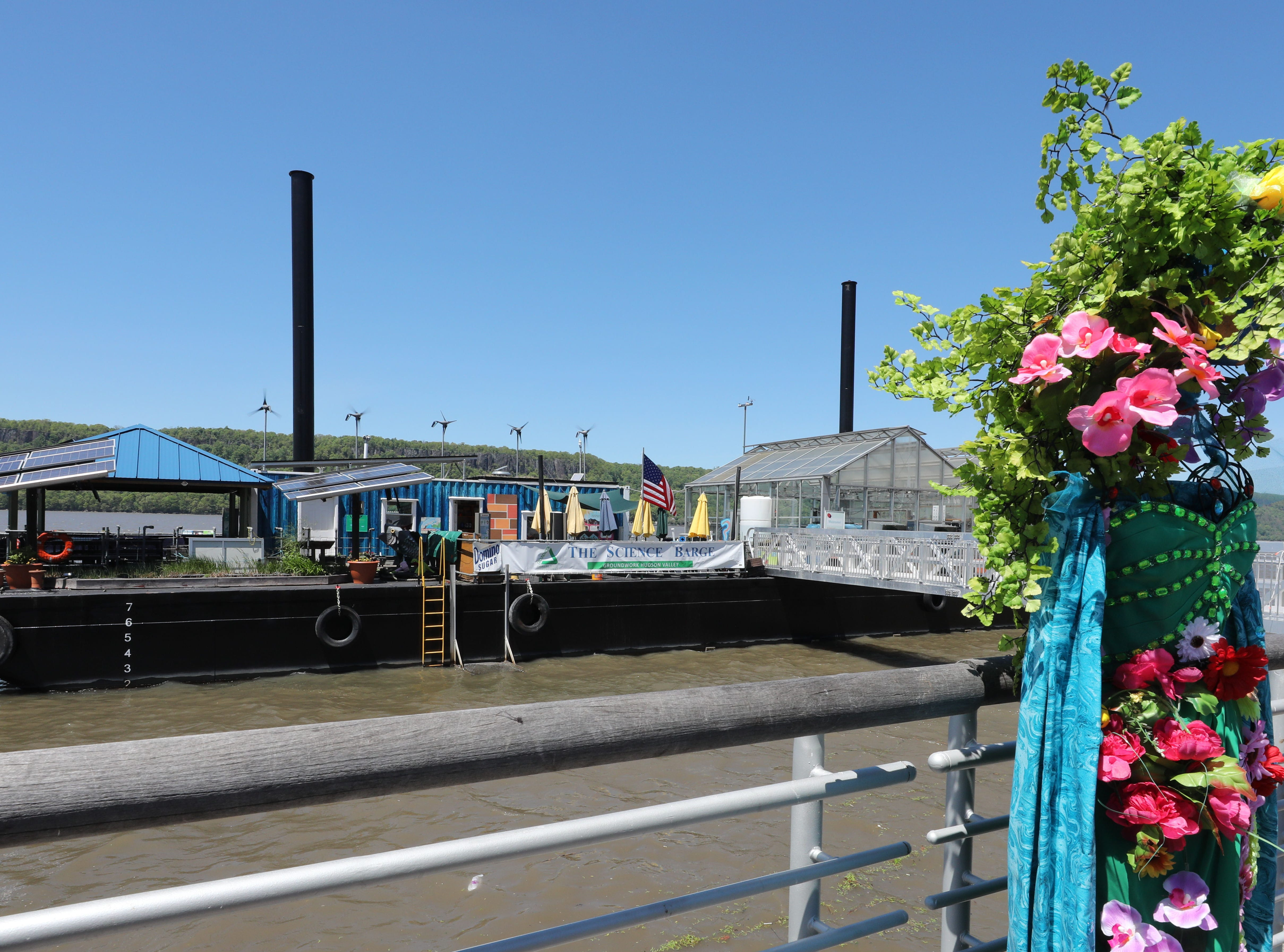 The Science Barge is pictured during its 11th annual opening on the Hudson River in Yonkers, May 11, 2019. The floating environmental education center  has undergone an almost $1million enhancement, completed over the past two years.