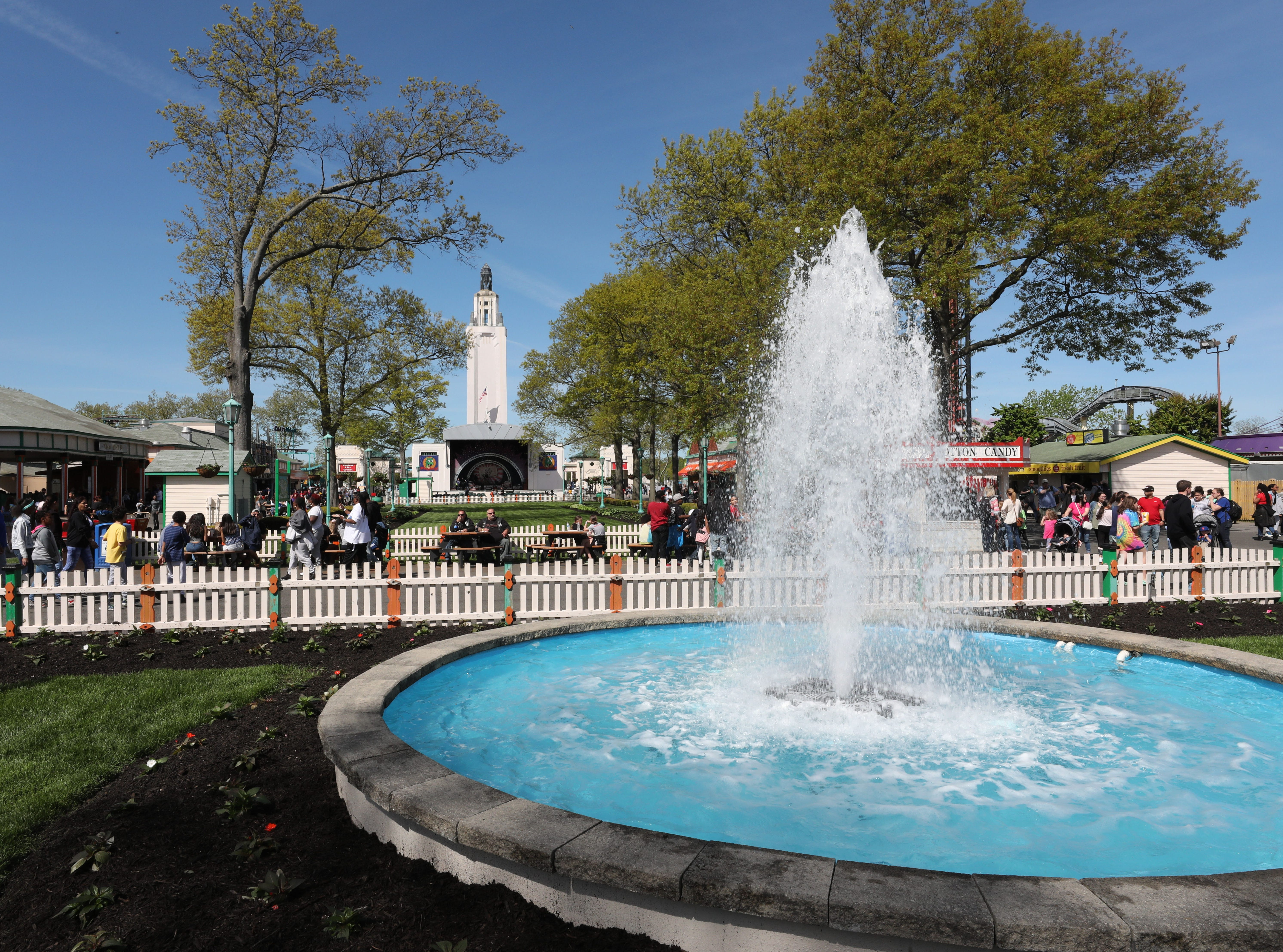 Beautiful weather greeted guests during the opening day at Playland in Rye, May 11, 2019.