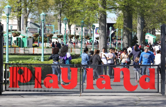 The beautiful weather brought out many guests during the opening day at Playland in Rye, May 11, 2019.