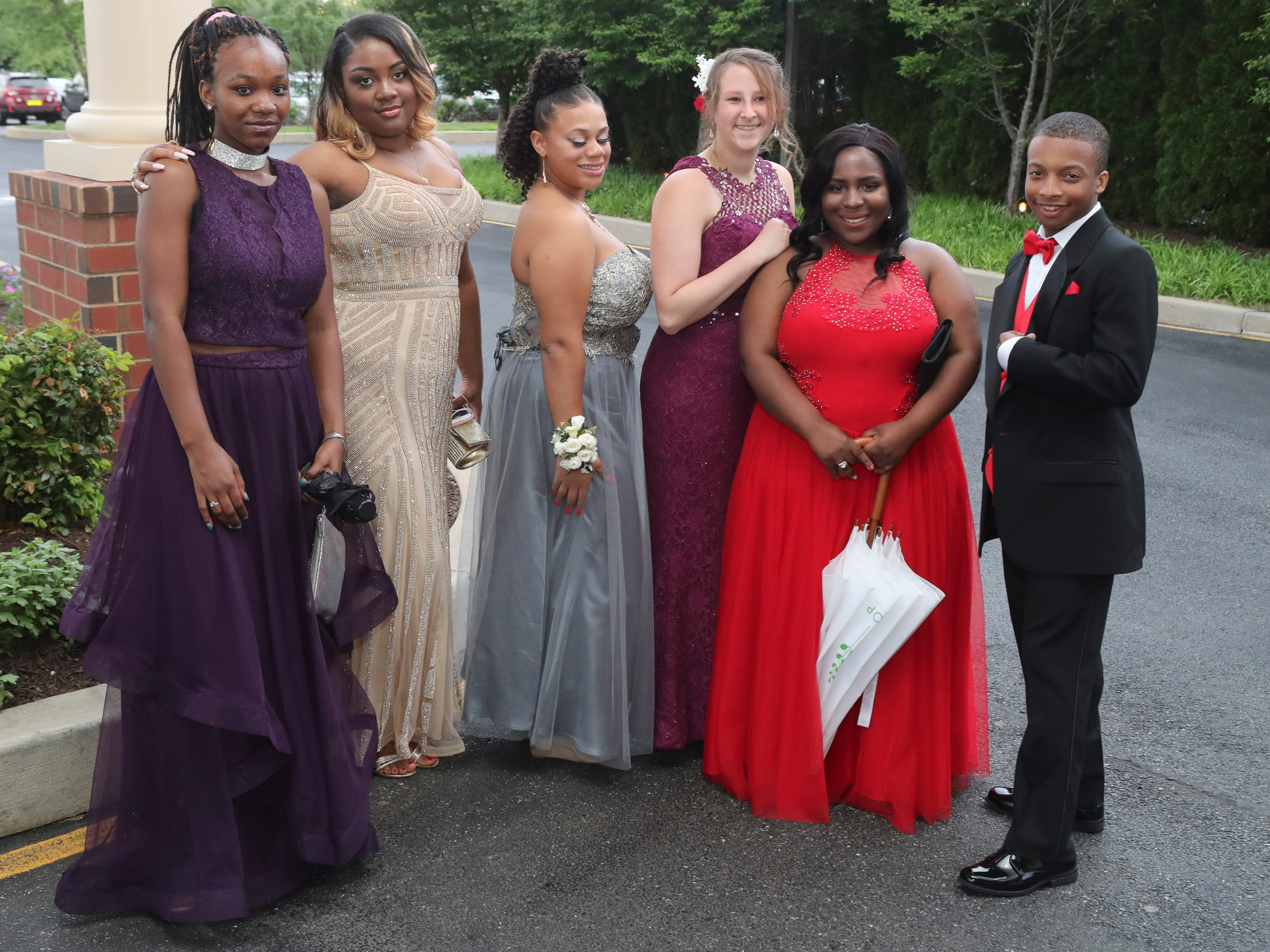 McKean High School students and guests arrive at the Executive Banquet & Conference Center in Glasgow for the school's prom, Friday, May 10, 2019.