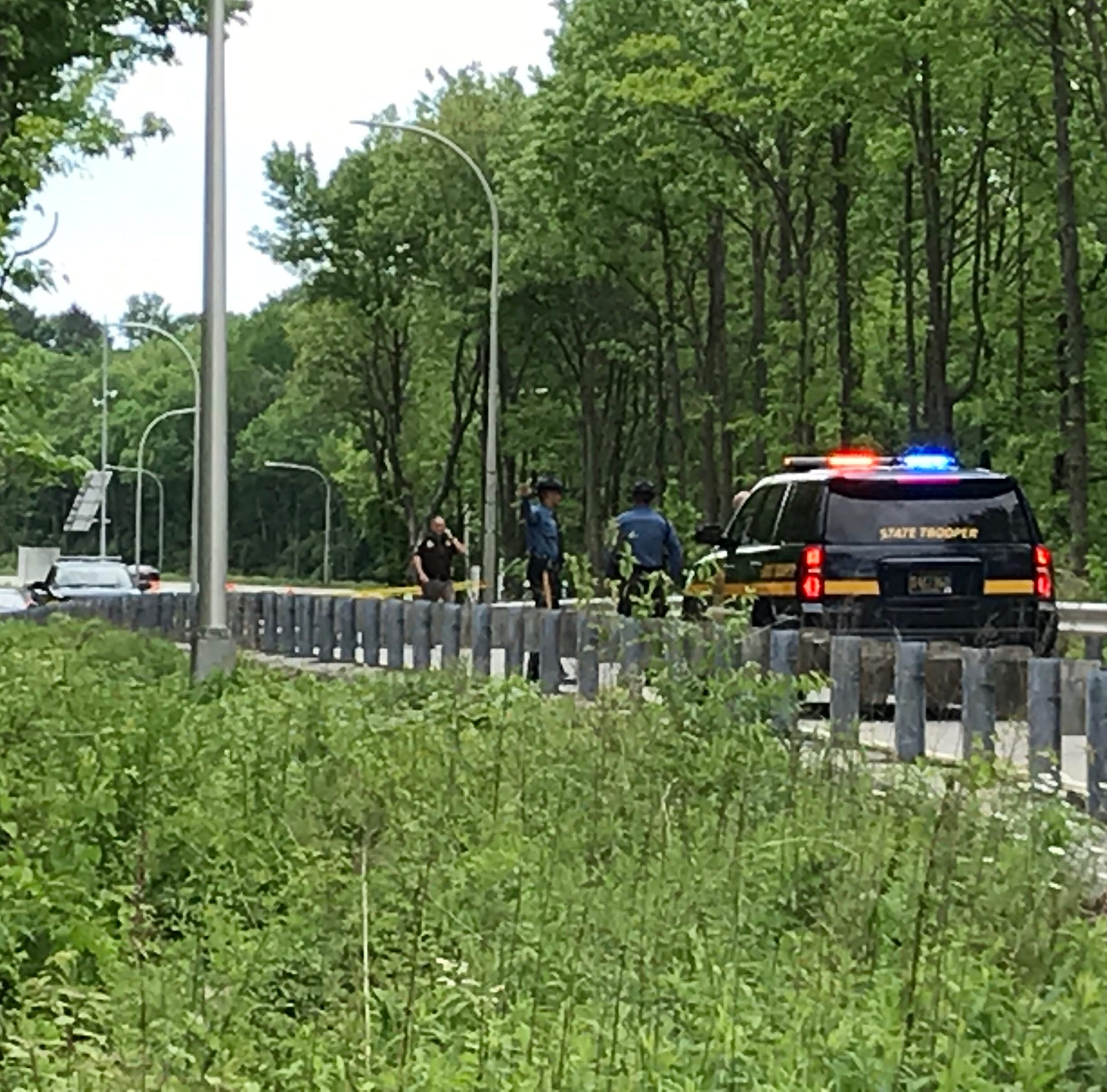 New Castle County Police close down I-95 exit after officer assaulted