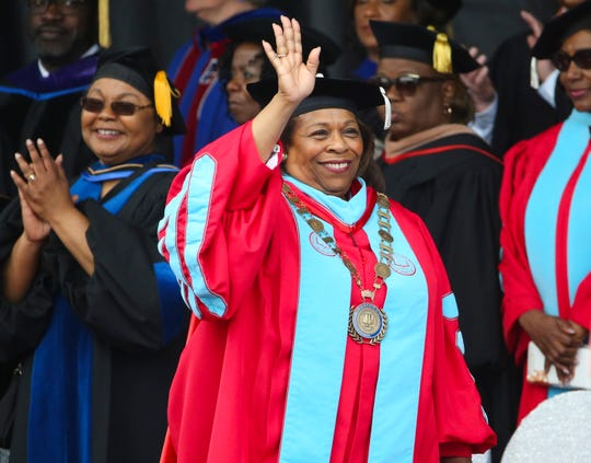 Wilma Mishoe announced her retirement as president of Delaware State University. She was the university's first female president.