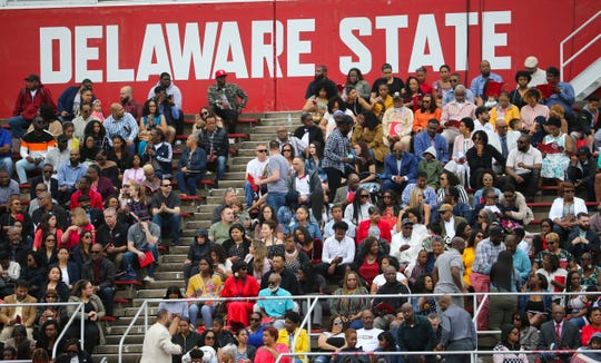 Delaware State University graduates 750 students in its 134th commencement Saturday at Alumni Stadium.