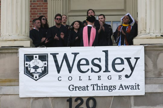 Wesley College graduates more than 260 students in its 146th spring commencement Saturday on the Dashiell Ampitheatre.