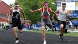Sheridan's Jacob Rhodes and John Glenn's Joseph Clifford talk about their performances at the 2019 MVL Track and Field Meet.