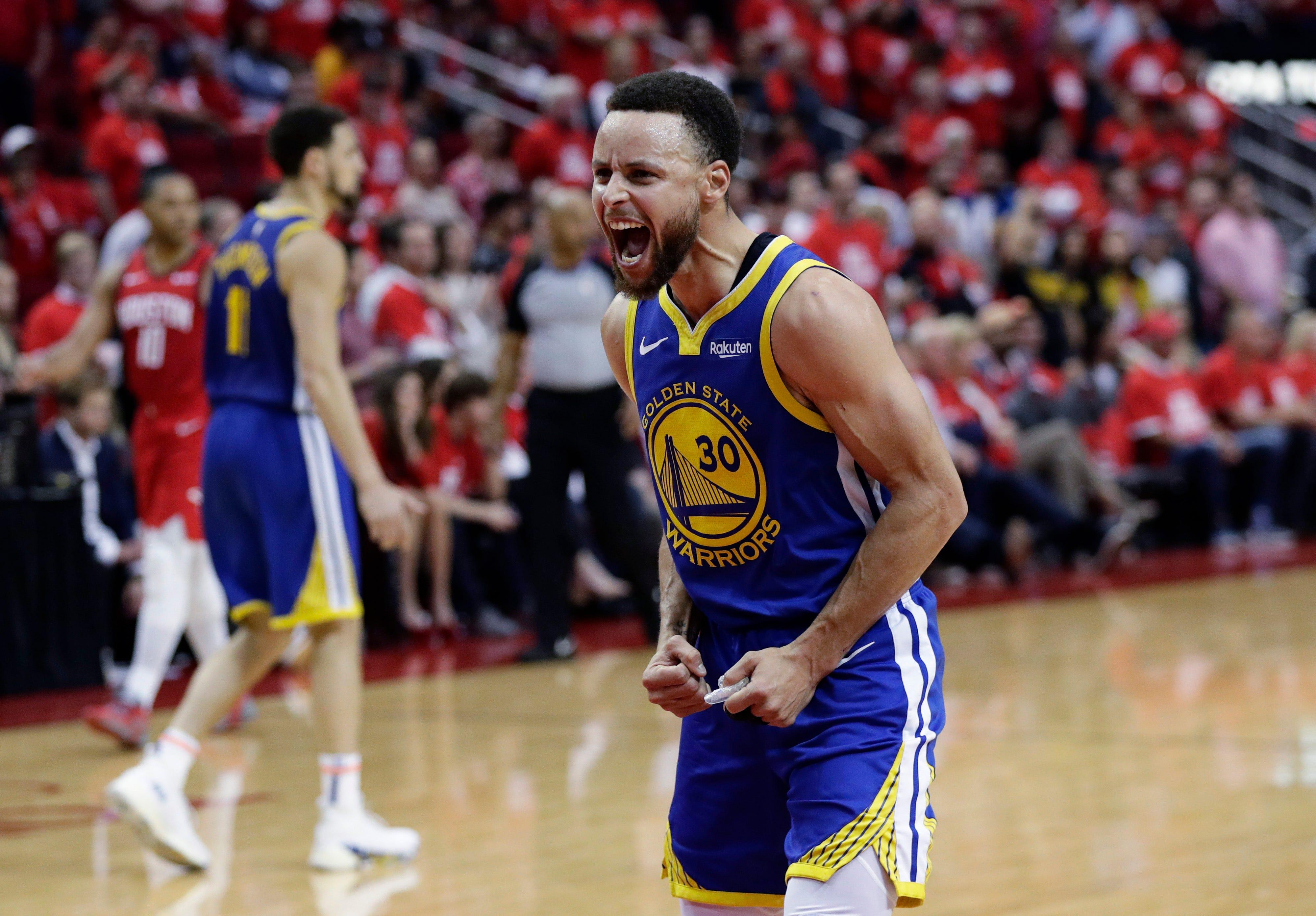 cb4965a4c4cf NBA playoffs  Curry has huge second half as Warriors eliminate Rockets