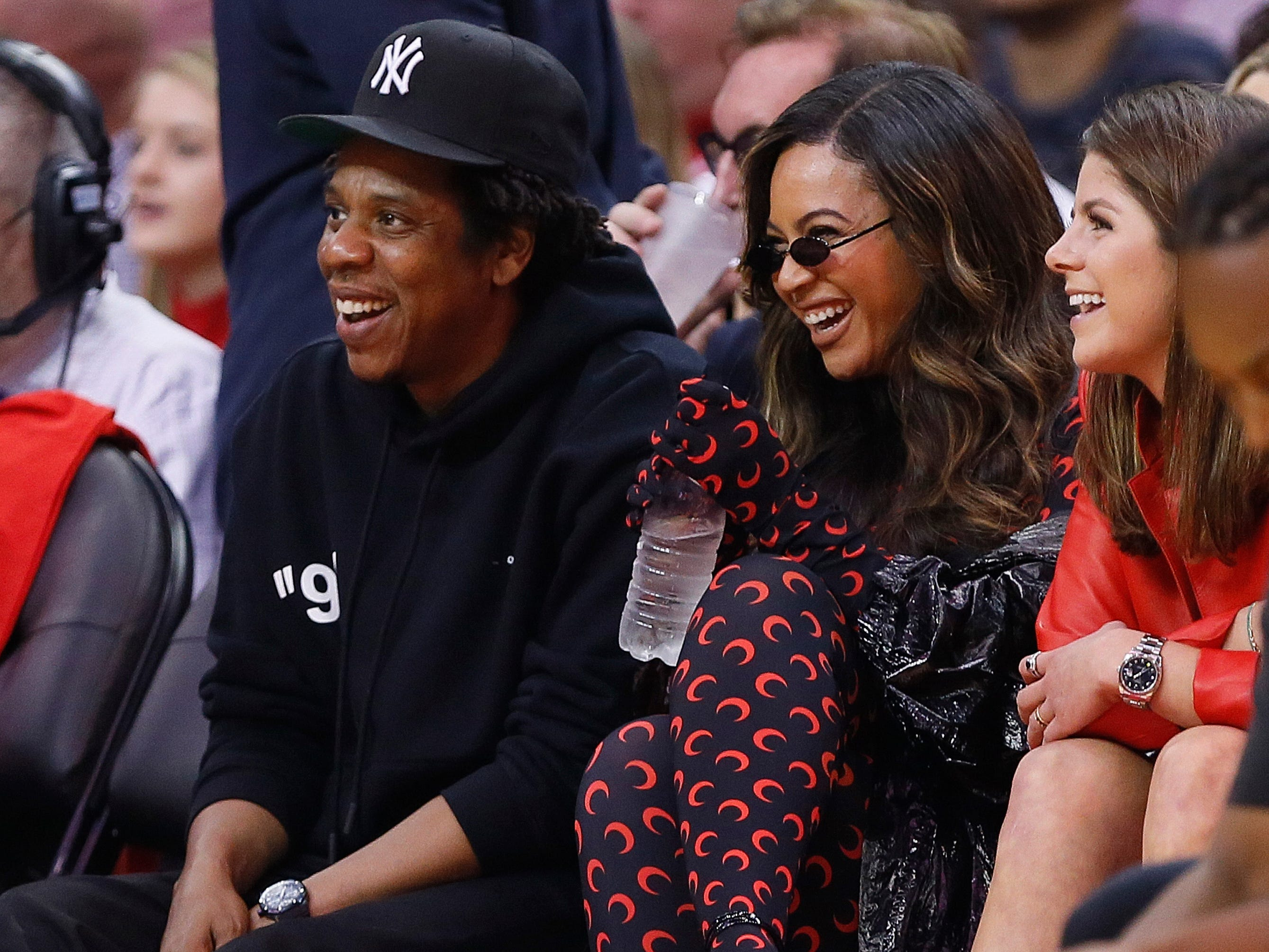 May 10: Jay-Z and Beyonce take in Game 6 between the Warriors and Rockets in Houston.