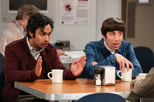 Raj (Kunal Nayyar), left, and Howard (Simon Helberg) are best friends on CBS' 'The Big Bang Theory.'
