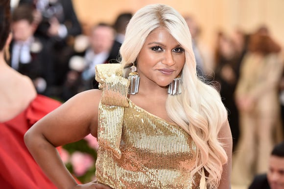 Mindy Kaling went super glam at the Met Gala on Monday.