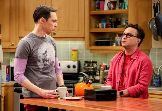 Sheldon (Jim Parsons), left, and Leonard (Johnny Galecki) have gone through hilarious ups and downs over 12 seasons of CBS' 'The Big Bang Theory.'
