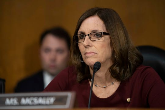 Sen. Martha McSally, R-Ariz.,at a Housing and Urban Affairs committee hearing on Feb. 26, 2019.