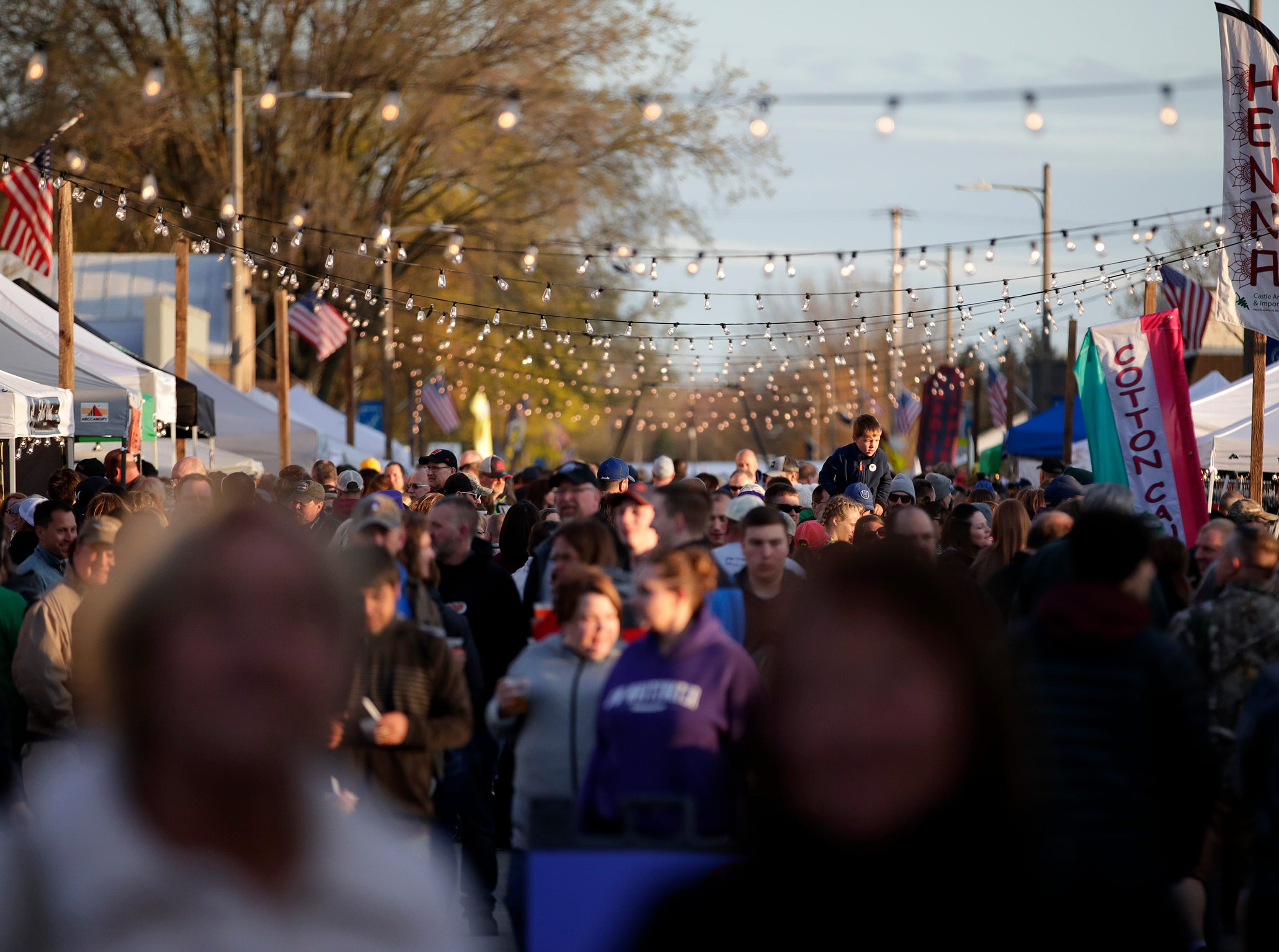 The first Bazaar After Dark of the year Saturday, May 11, 2019, in Brillion, Wis. Danny Damiani/USA TODAY NETWORK-Wisconsin