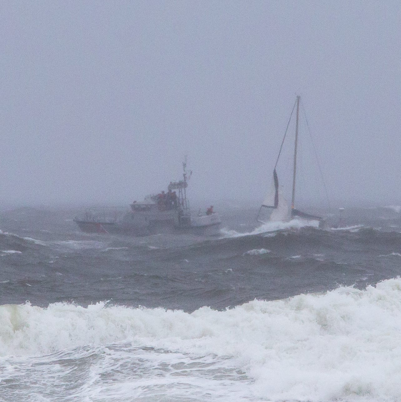 Bradley Beach sailboat in distress: USCG monitoring