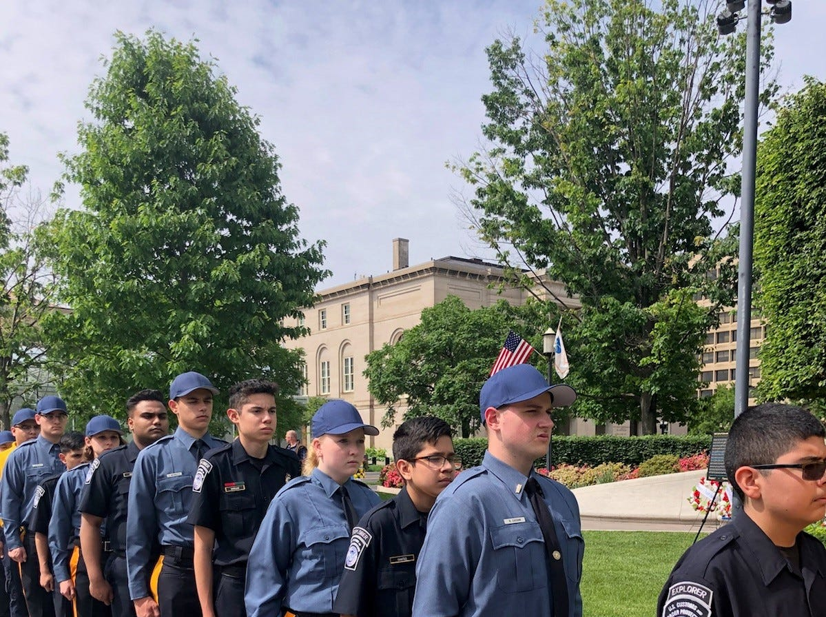 The Ocean County Sheriff's Public Safety Cadets laid a wreath at the National Law Enforcement Officers Memorial on Saturday, May 11, 2019.