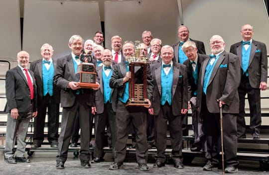 The Binghamton chapter of Barbershop Harmony Society, The Southerntiersmen, won the Seneca Land District Spring Convention and Competition in Geneva in April of 3028. The barbershop group will perform throughout the area this summer.