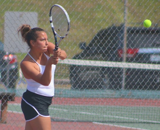 Olympic's Marissa Nemeth won the Olympic League 2A girls singles tennis title Saturday at North Kitsap High School.