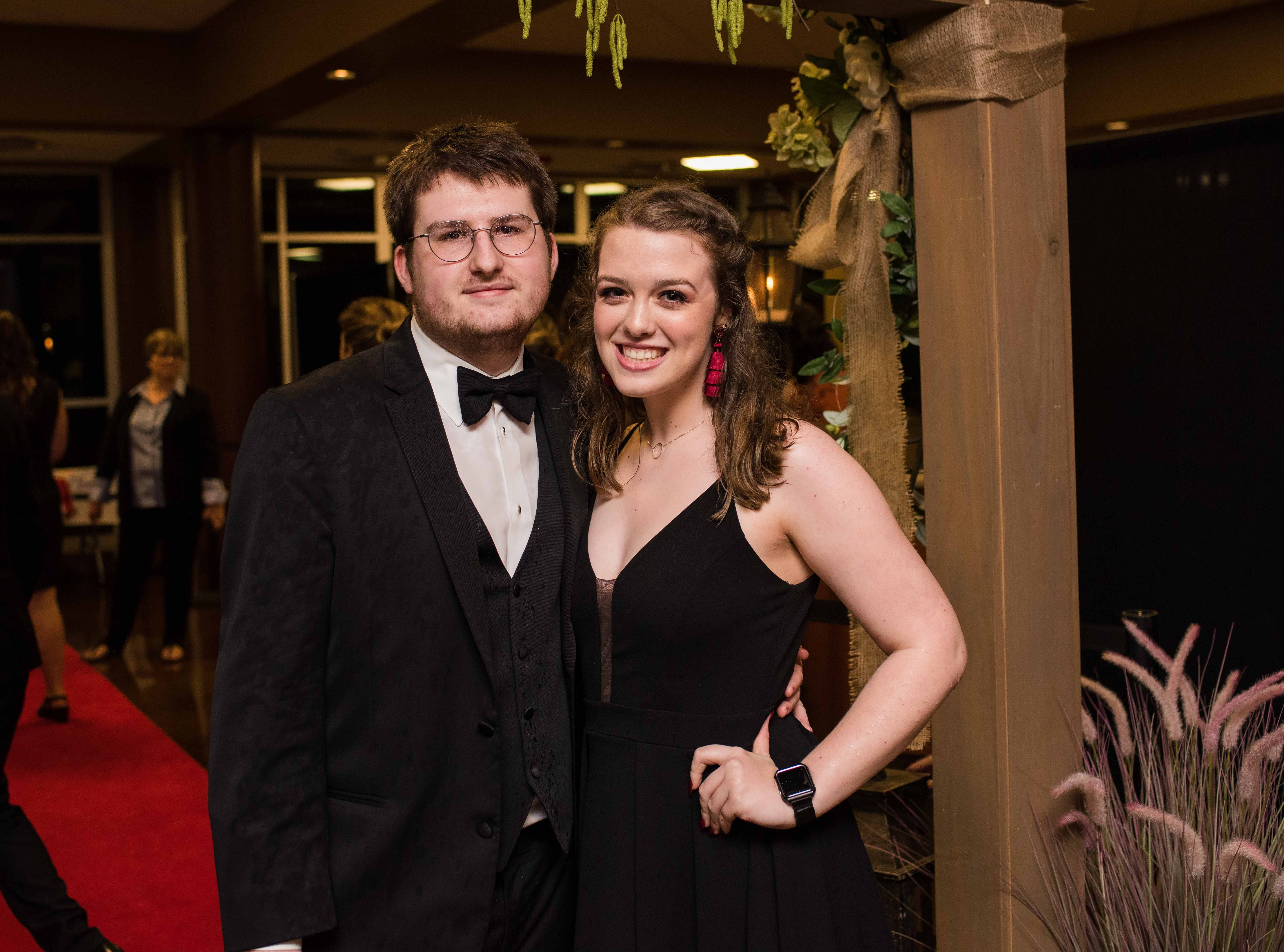 Joshua Hunter and Emily Mayes at Rossview High School prom Saturday night at Valor Hall in Oak Grove, Ky.