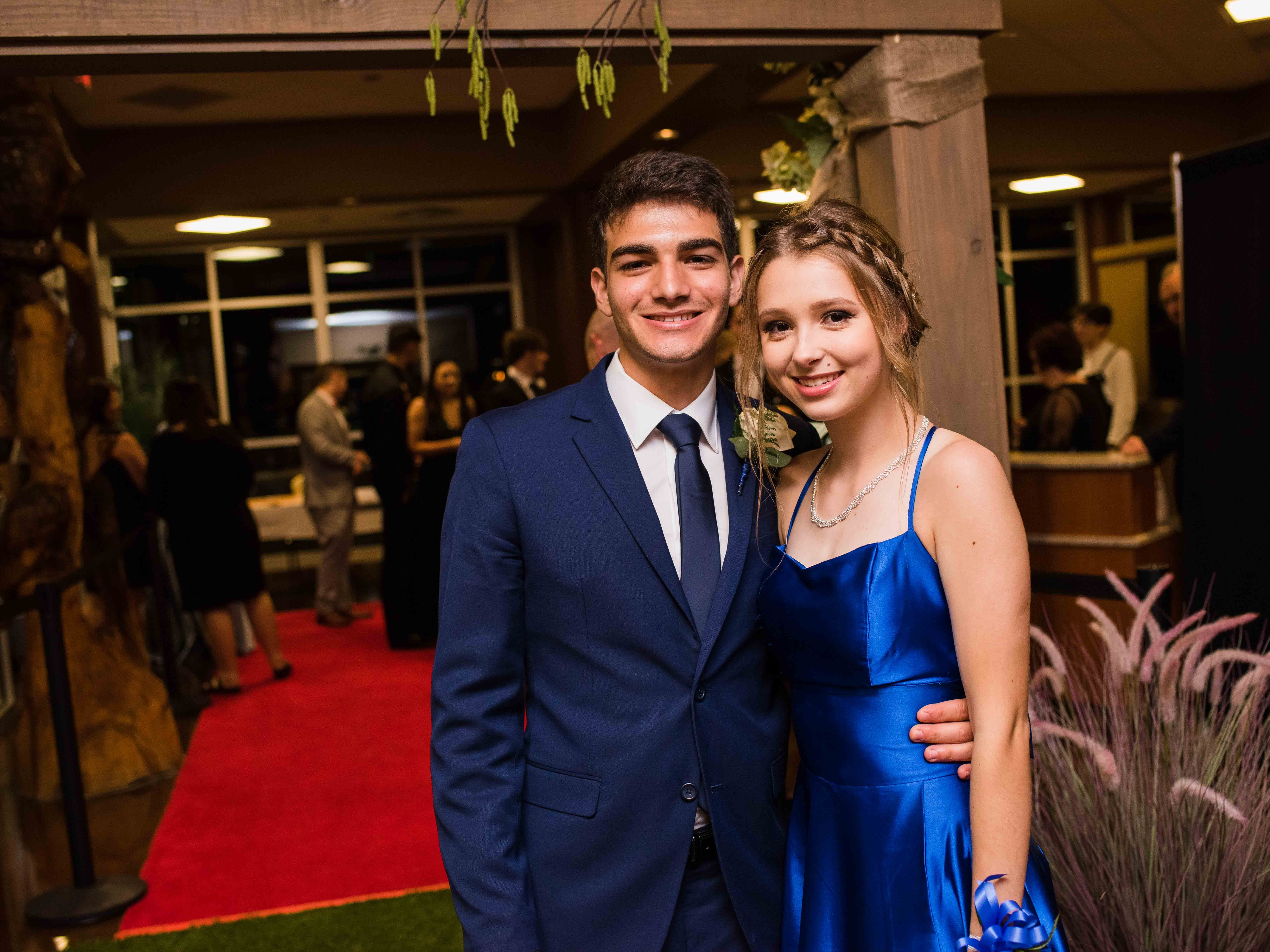 Thiago Nogueira and Gabby Kowalski at Rossview High School prom Saturday night at Valor Hall in Oak Grove, Ky.