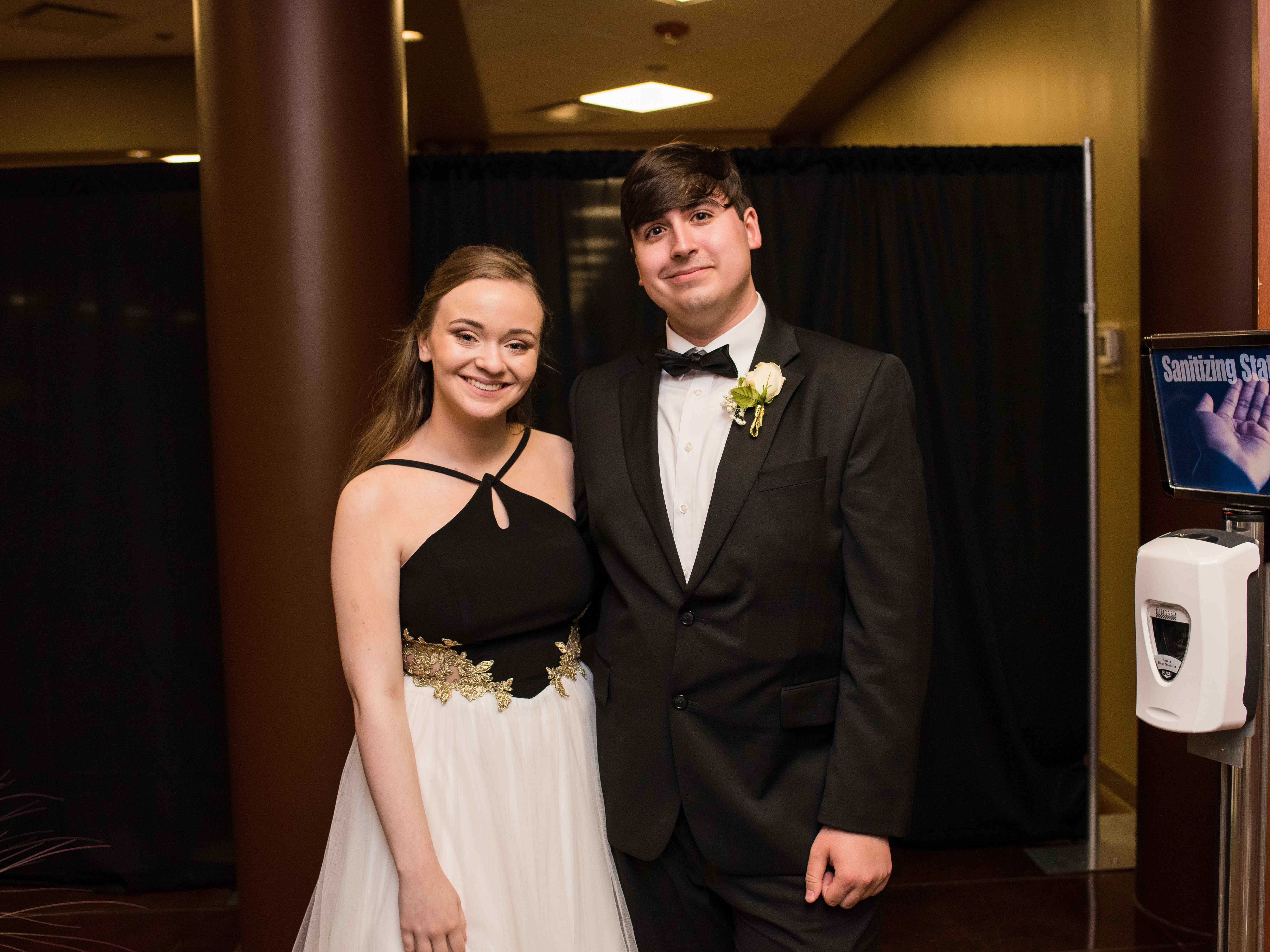 Emily Caldarelli and Brandon Collins at Rossview High School prom Saturday night at Valor Hall in Oak Grove, Ky.