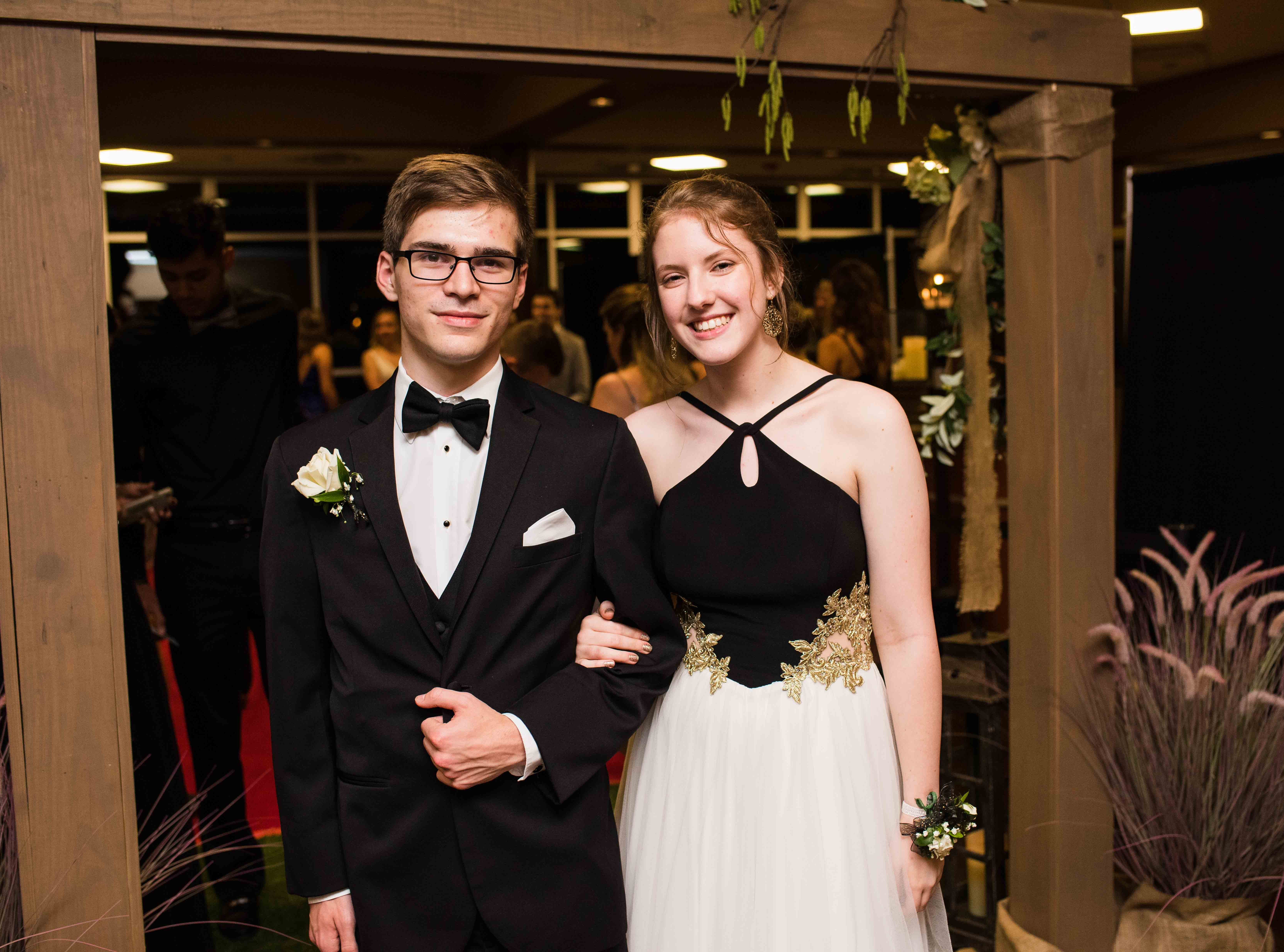 John Shadix and Margaret Smith at Rossview High School prom Saturday night at Valor Hall in Oak Grove, Ky.