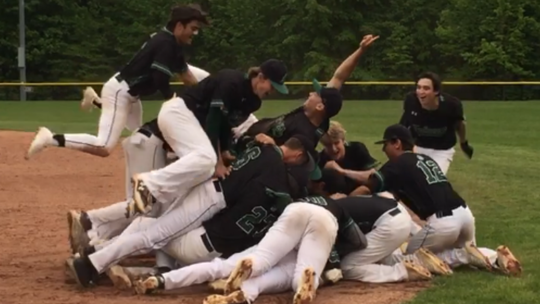 St. Joseph celebrates its walkoff victory over South Plainfield