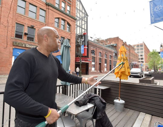 """Window Works owner Jamal Wheeler said he uses """"visual common sense"""" in Greektown and urges others to do the same."""