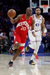 Jodie Meeks, left, and the Toronto Raptors meet the Philadelphia 76ers in a deciding Game 7 in their Eastern Conference semifinals series on Sunday.