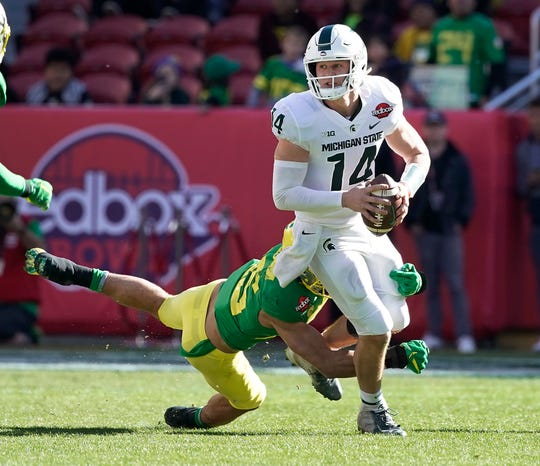 Michigan State played Oregon in the Redbox Bowl after the 2018 season.