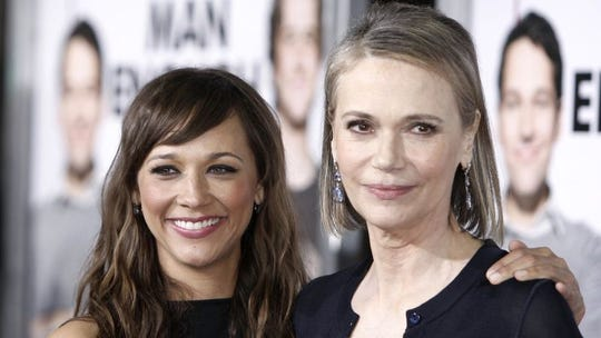 """Peggy Lipton, right, with her daughter Rashida Jones at the premiere of the film """"I Love You, Man"""" in Los Angeles in 2009."""
