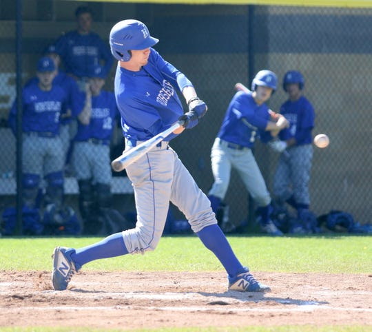 Kyle Wayman takes a swing for Horseheads against Corning on May 11, 2019 at Corning-Painted Post High School.