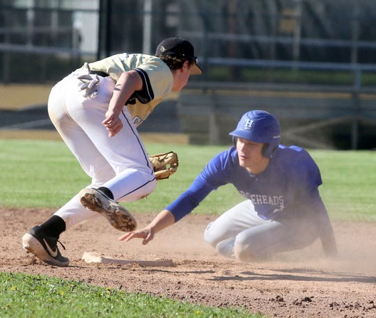 Action from Horseheads at Corning baseball May 11, 2019.