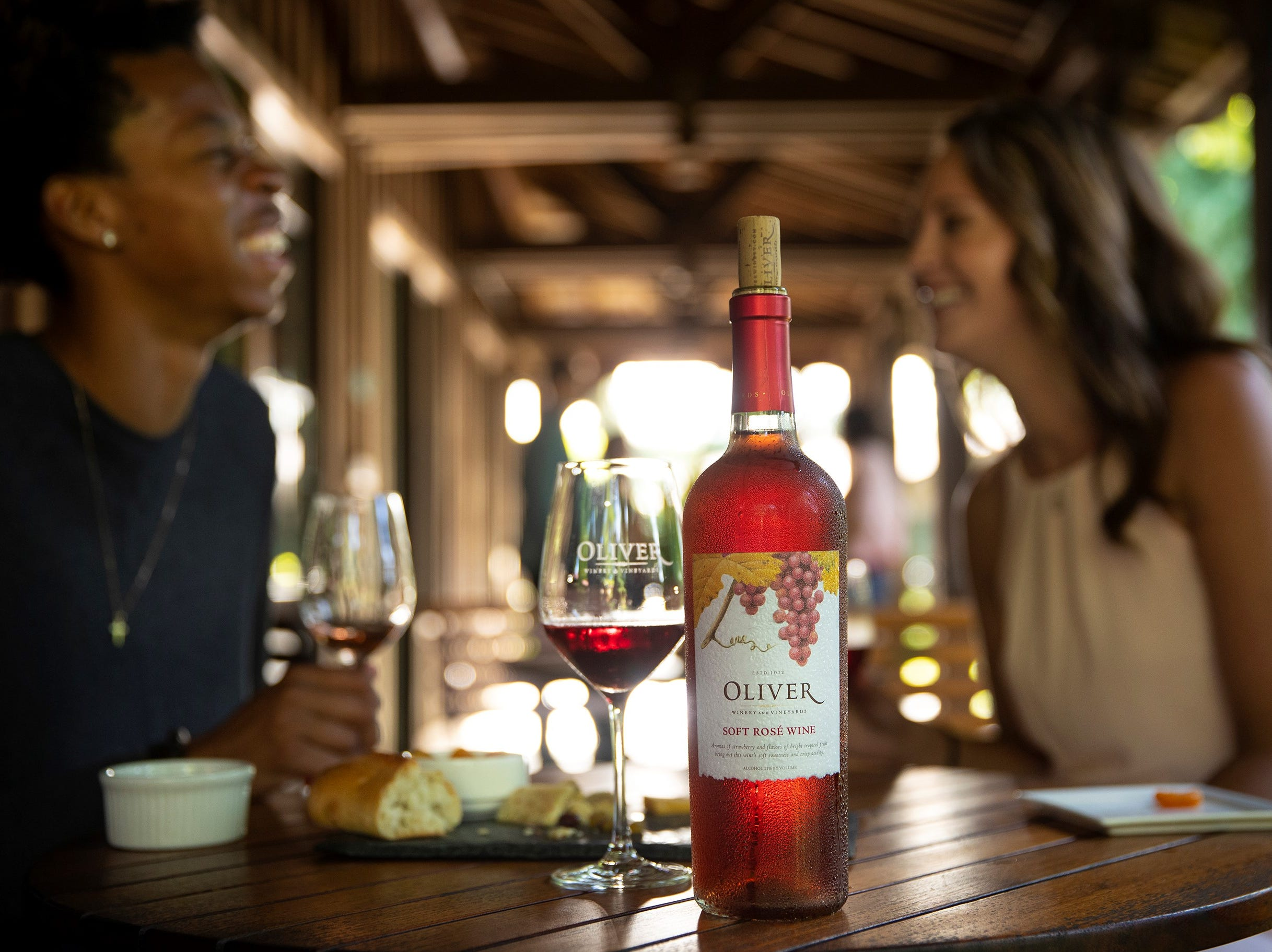 The Soft Rosé wine here is a sibling to the Soft Red and Soft White wines that are Oliver's most popular.