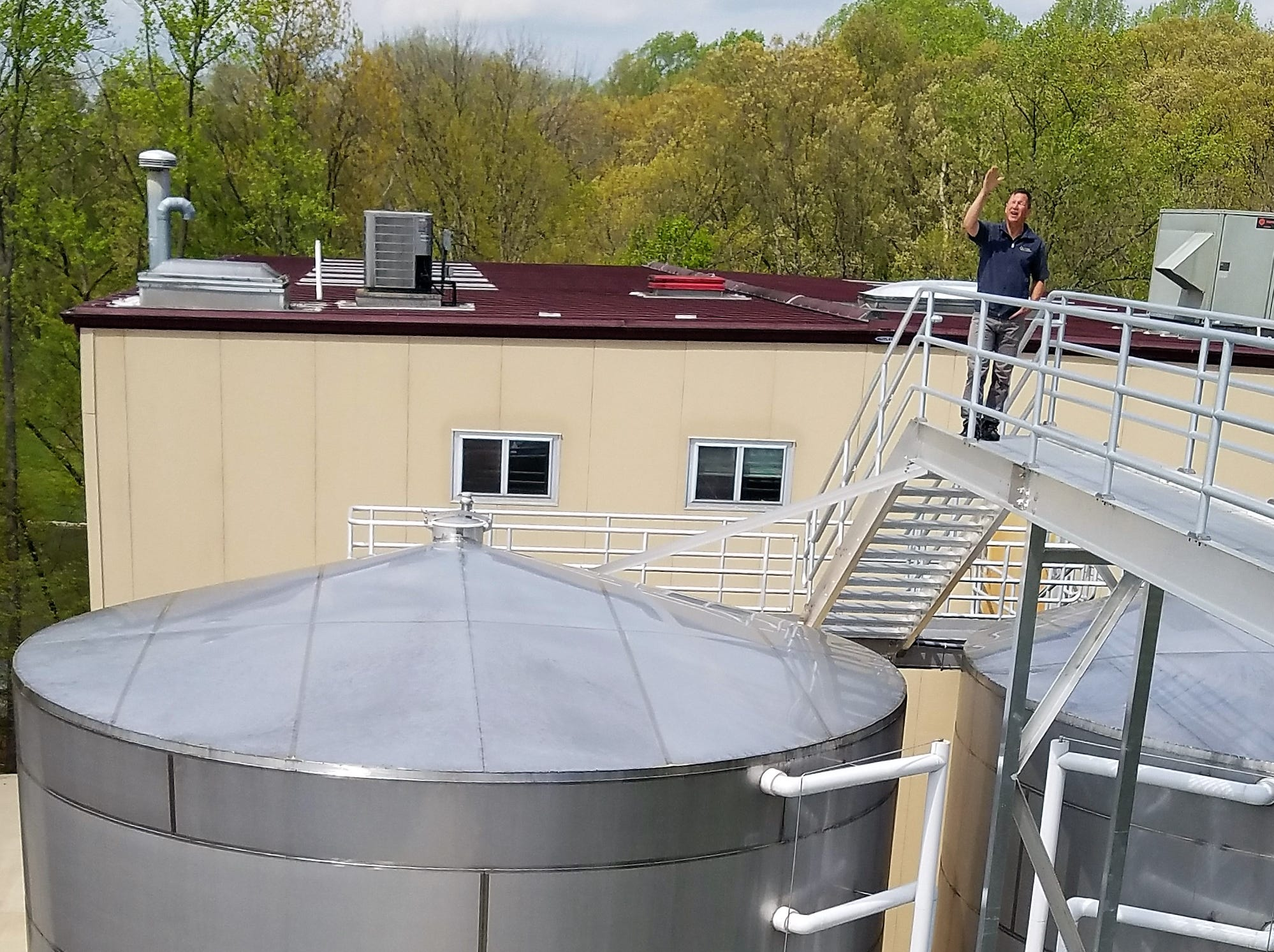 These tanks hold 116,000 gallons of Oliver's most popular wines.