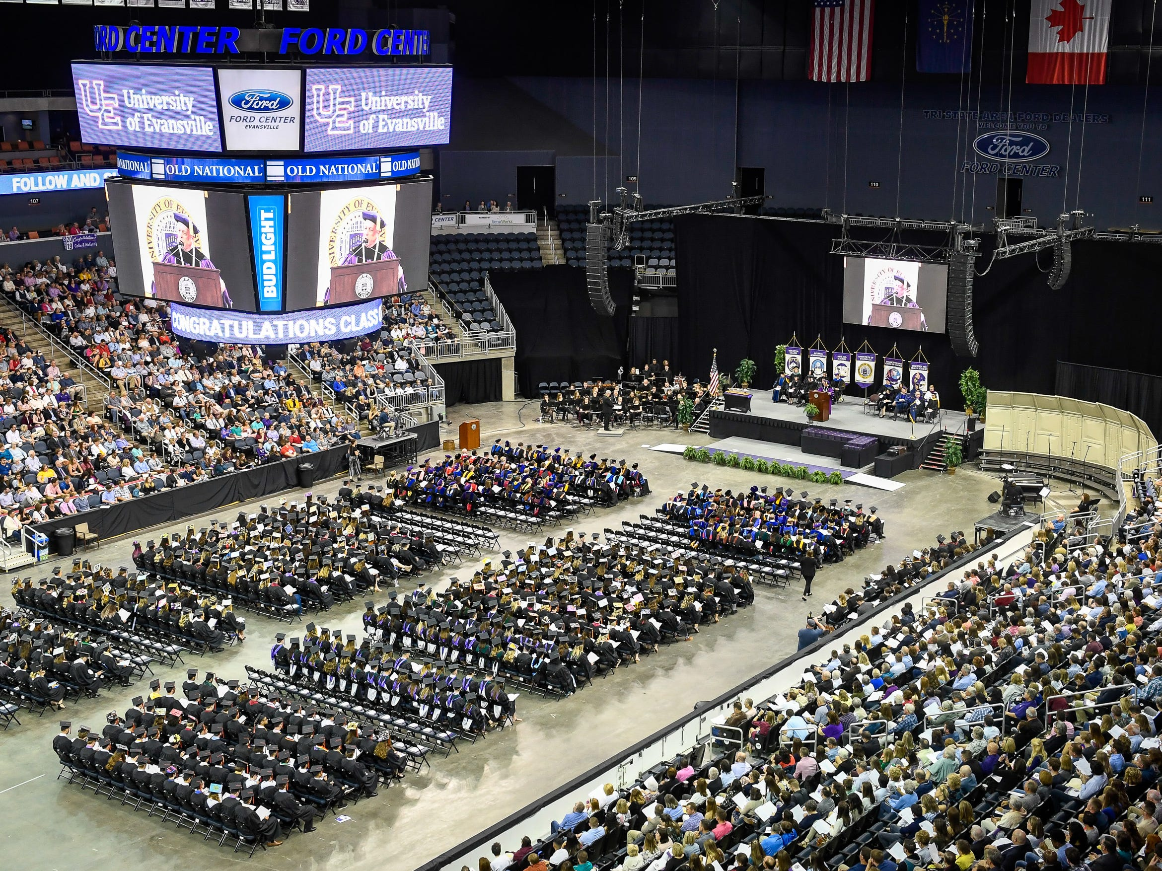 The University of Evansville's 161st commencement ceremony held at the Ford Center Saturday, May 11, 2019.