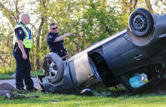 Fond du Lac City Fire/Rescue as well as Police Department responded to a single vehicle crash in the west part of Lakeside park.