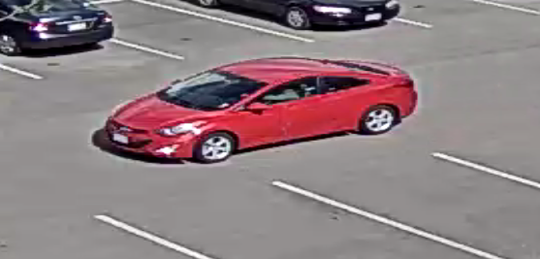 Colorado State University police say the man driving this car is suspected of exposing himself to three females Saturday near Moby Arena in Fort Collins.