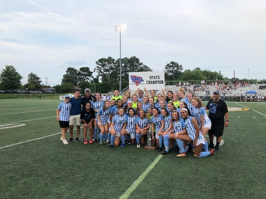 The J.L. Mann girls soccer team defeated Wando, 1-0, to win their third straight state soccer championship