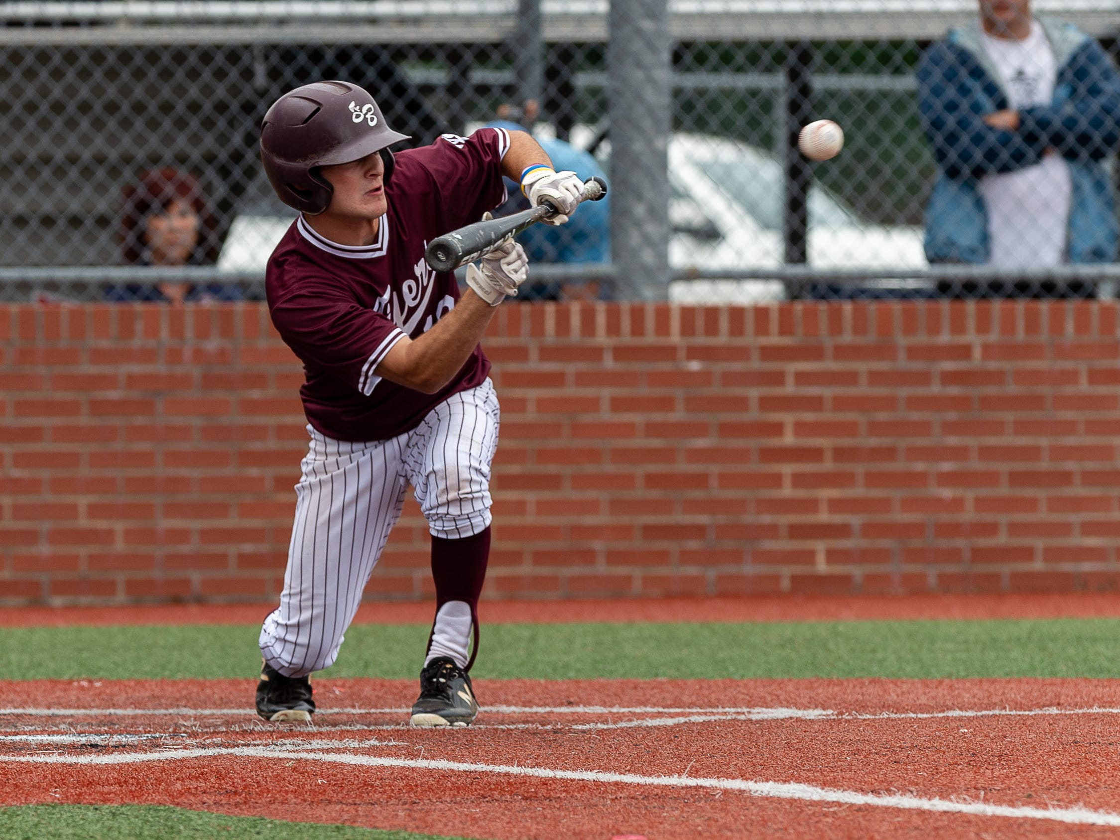 Noah Frederick at the plate as Breaux Bridge takes on Lakeshore  in the Class 4A semi final round at the LHSAA State Championship. . Sunday, May 12, 2019.