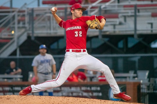UL's Brandon Young went 6.0 innings with one hit allowed in a 16-6 win over Georgia State.