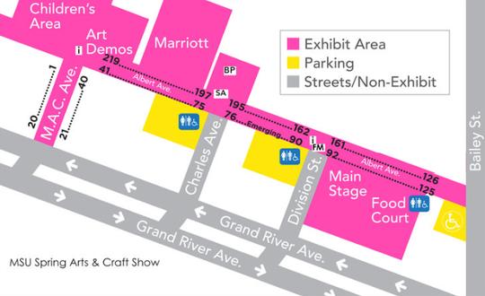 Map of the East Lansing Art Festival