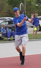 St. Peter's Luke Henrich won his second sectional singles title with a three-set victory over Clear Fork's Noah Brown