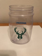 A woman attending a party outside the Fiserv Forum during Wednesday night's Bucks game said she was sickened by a Moscow Mule purchased at an Absolut tent in this mug.