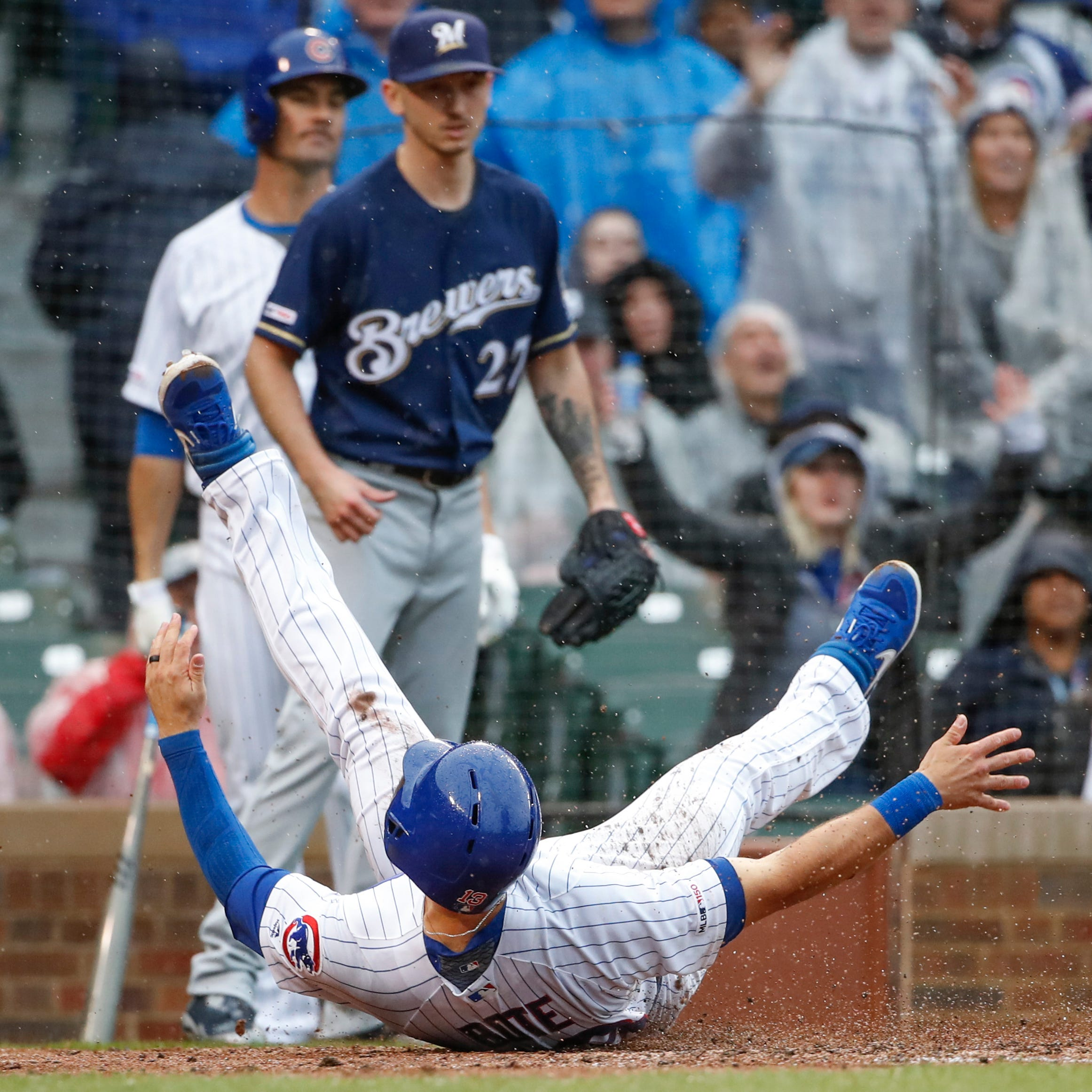 Two early plays loomed large in yet another memorable game between the Brewers and Cubs