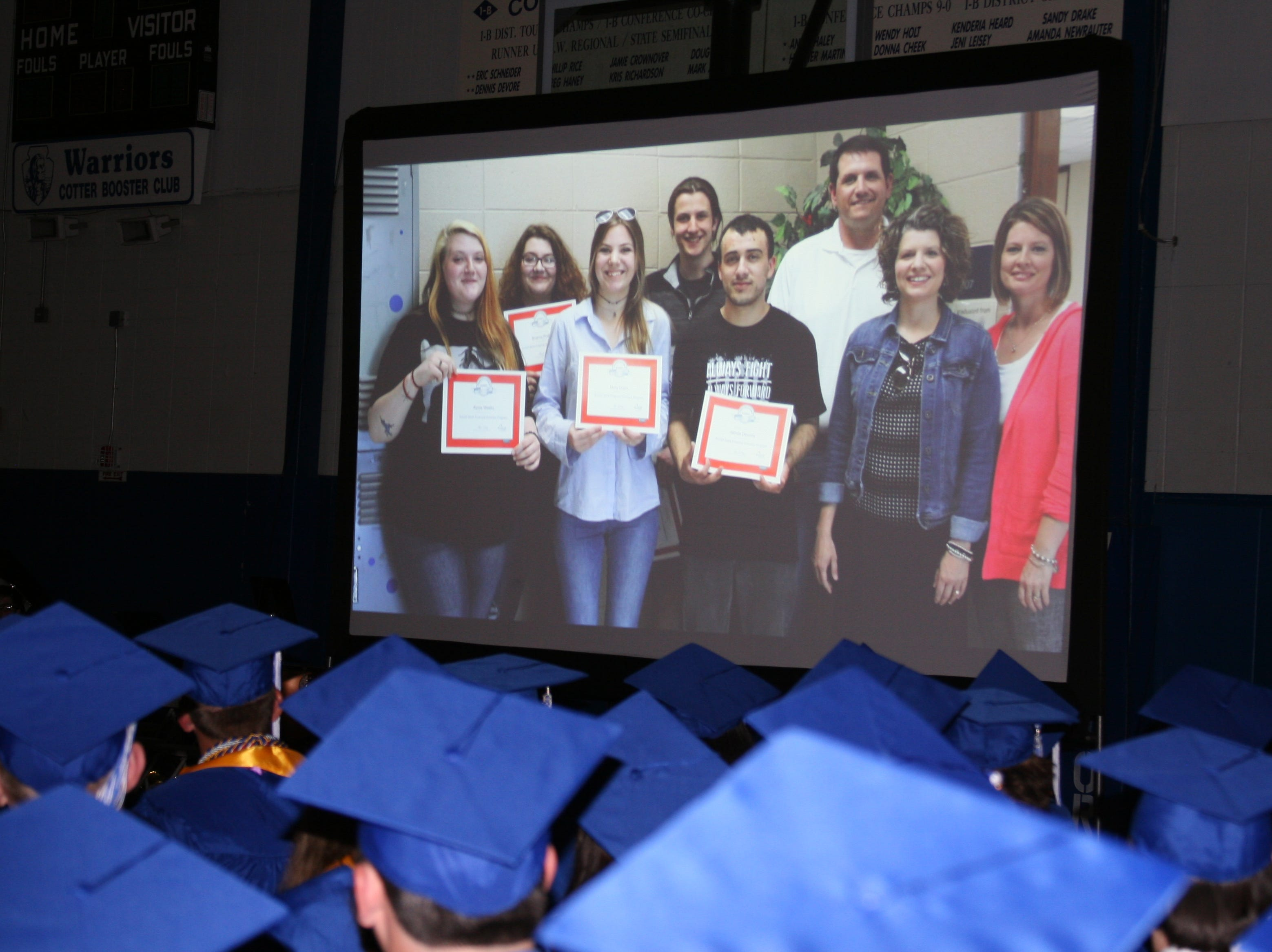 All 41 of Cotter High School's 2019 graduates were featured in a senior slideshow.