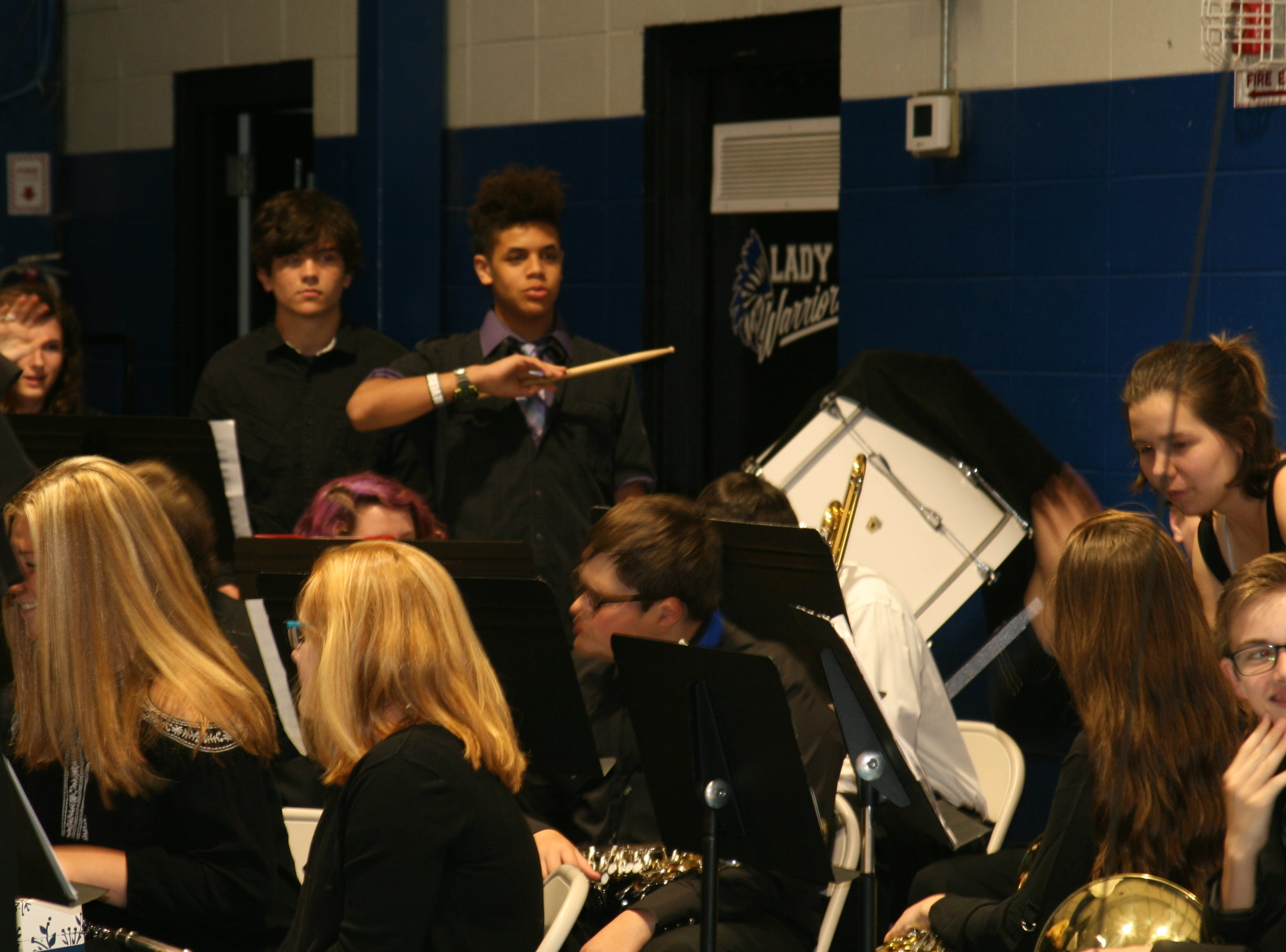 "Members of the Cotter High School Band performed ""Pomp and Circumstance"" as the 61 members of the high school class entered the gymnasium for the 2019 Cotter graduation ceremony."