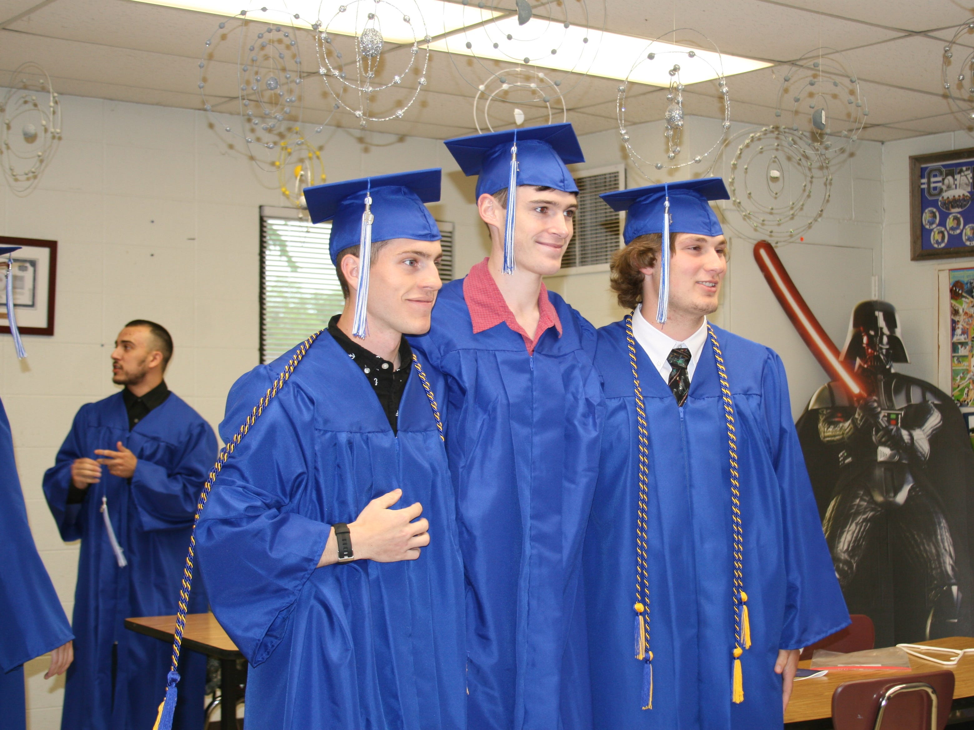 Many of Saturday night's graduates of Cotter High School attended all 13 years of school together.