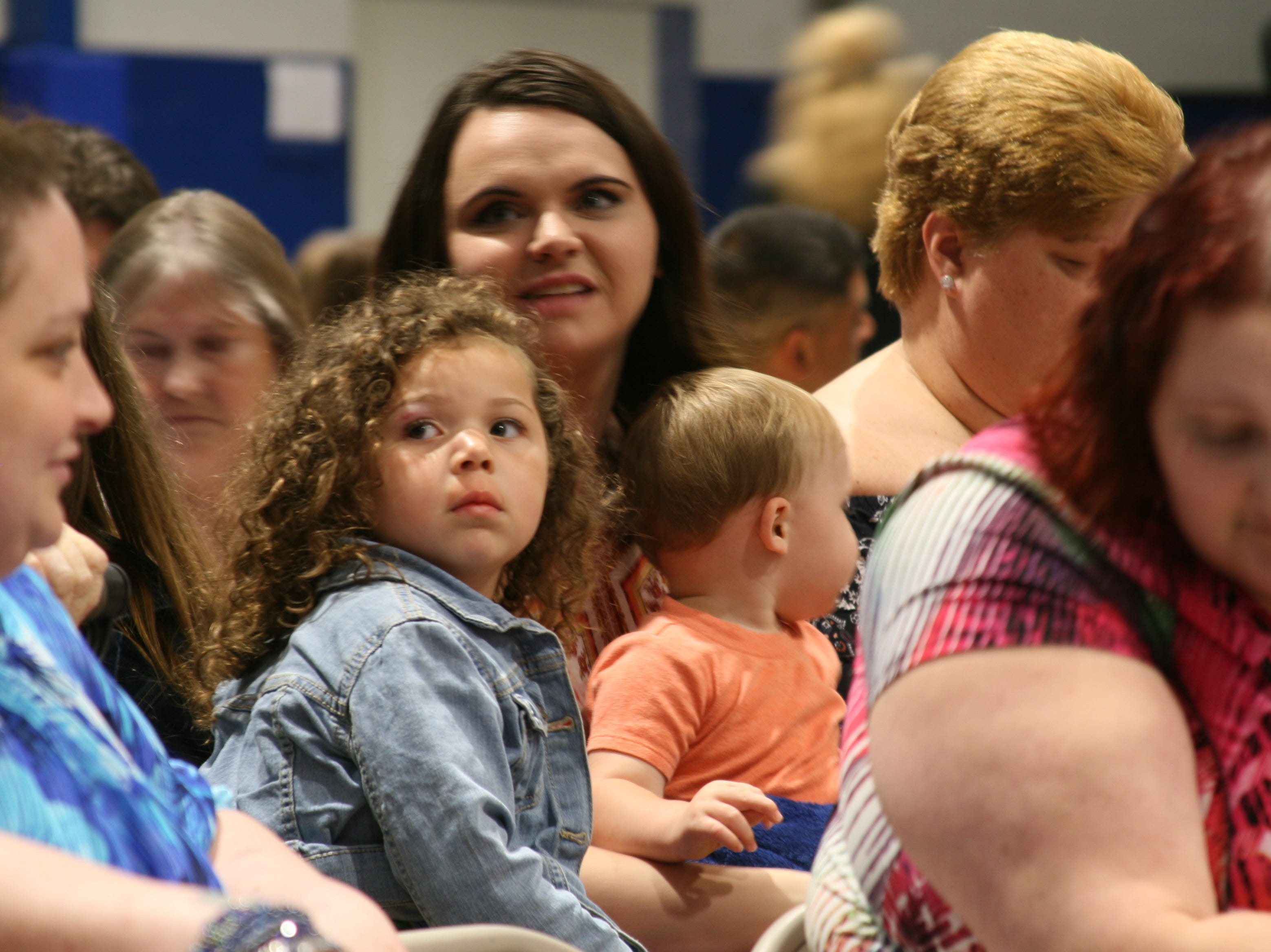 Families of the 2019 Cotter High School graduates had reserved seating on the gymnasium floor.