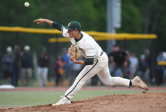 Delbarton vs. West Morris in the Morris County Tournament baseball final at Montville High School on Saturday, May 11, 2019. D pitcher #22 Jack Leiter.